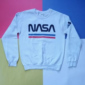 Modern NASA Space Graphic Crewneck Sweater